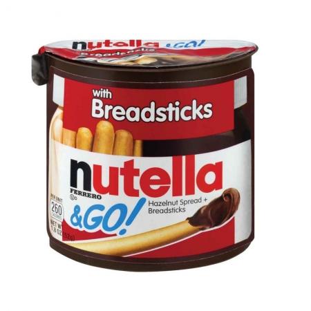 CHOC NUTELLA & GO 52G WITH BREADSTICKS