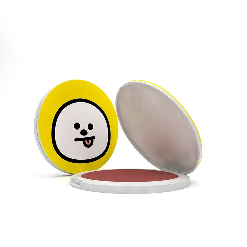 BLUSH COMPACTO BT21  CHIMMY COR PURE AT HEART