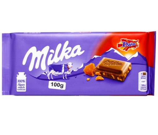 CHOC MILKA DAIM 100G