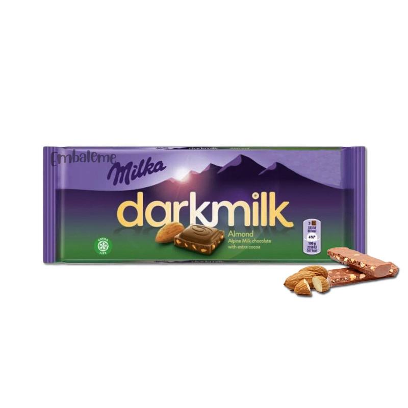 CHOC MILKA DARKMILK ALMOND EXT COCOA 85G