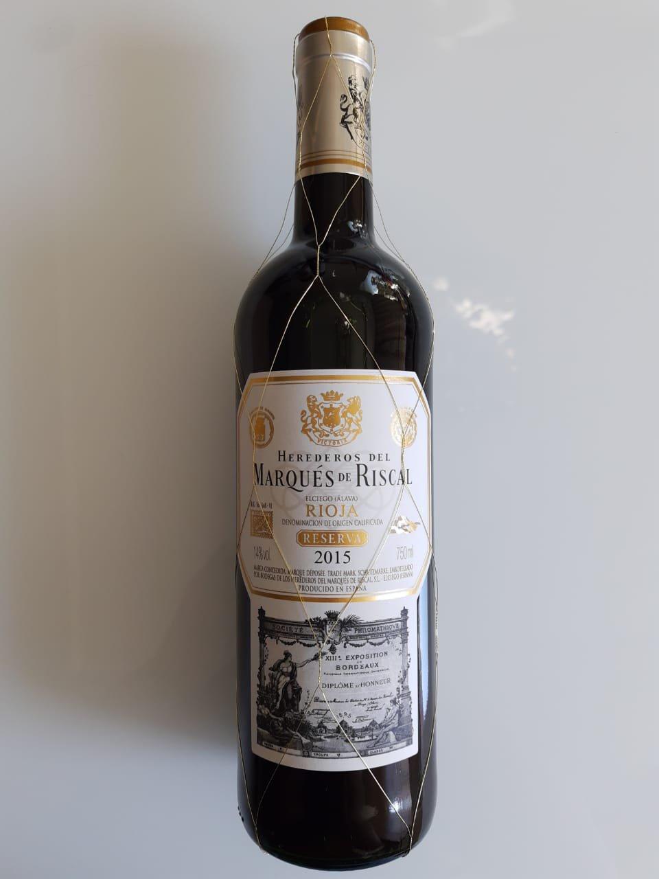 Vinho Marqués De Riscal Reserva 750ml
