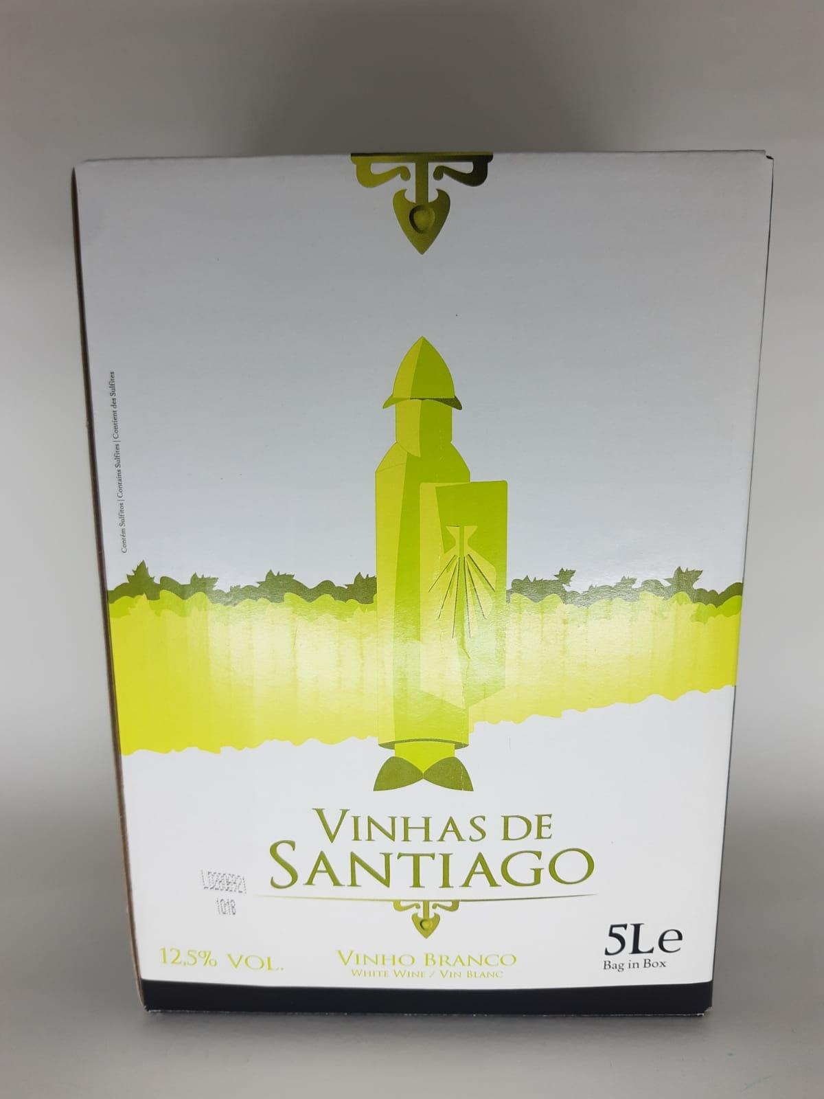 Vinho Vinhas De Santiago Bag In Box Branco 5Litros
