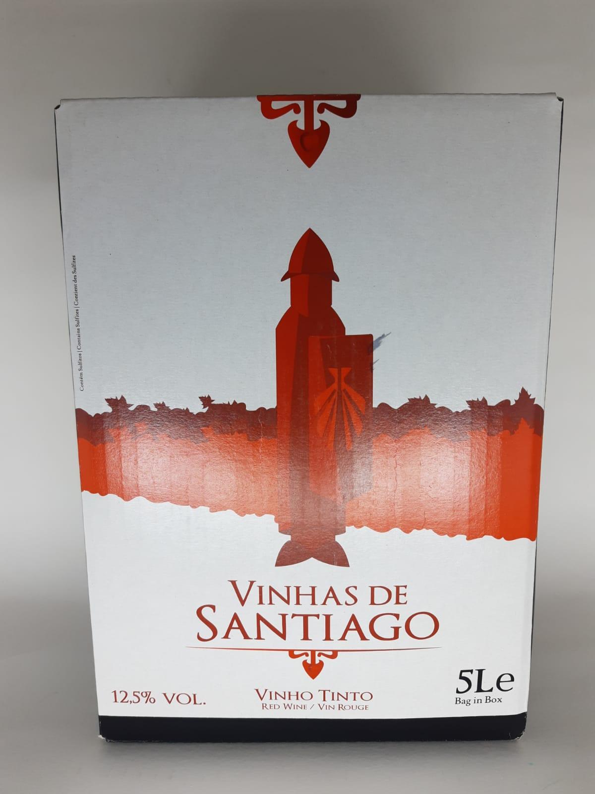 Vinho Vinhas De Santiago Bag In Box Tinto 5Litros