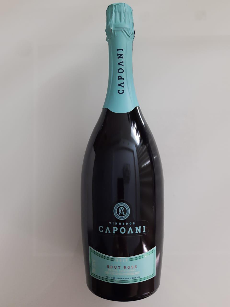 Vinho Vinhedos Capoani Espumante Brut Rosé 750ml