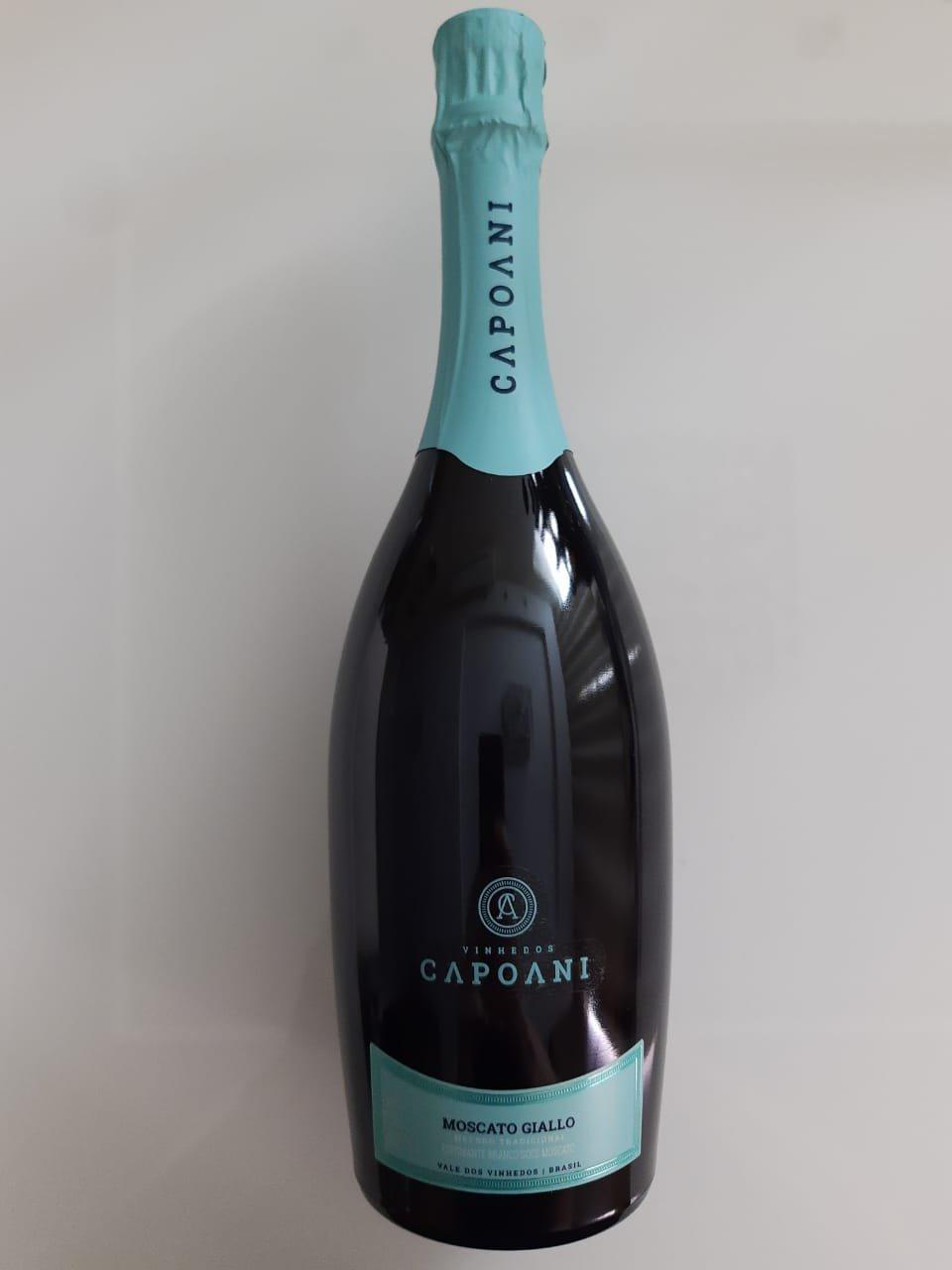 Vinho Vinhedos Capoani Espumante Moscato Giallo 750ml