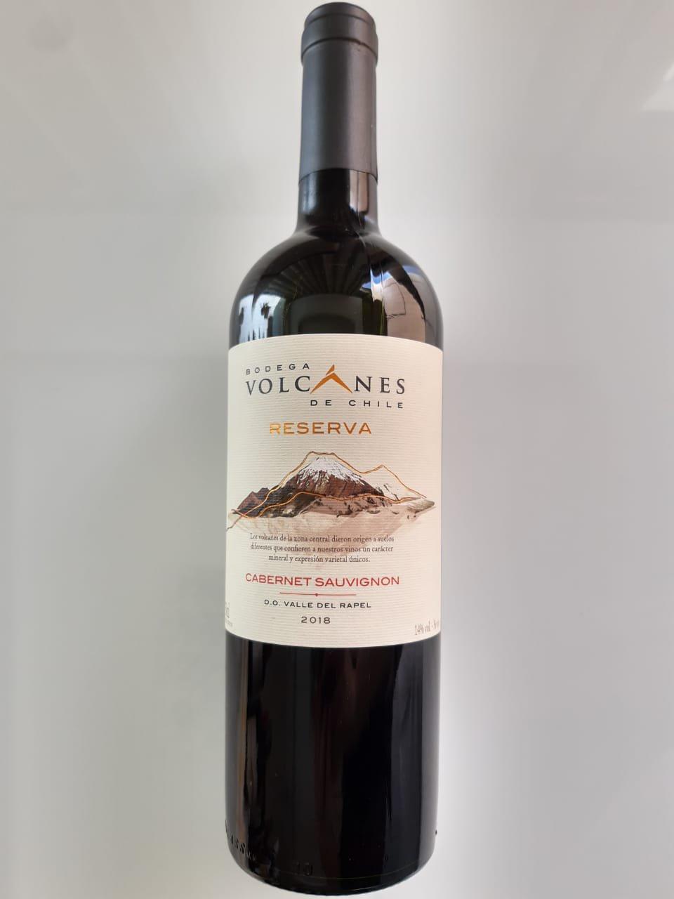 Vinho Volcanes Reserva Cabernet Sauvignon 2018 750ml