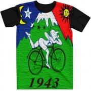 Stompy Camiseta Manga Curta Psicodelica Modelo 02