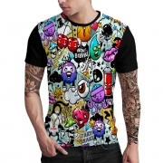 Stompy Camiseta Estampada Masculina Modelo 34