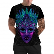 Stompy Camiseta Manga Curta Psicodelica Modelo 03