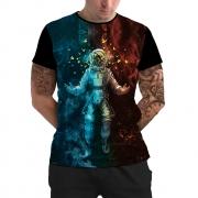 Stompy Camiseta Manga Curta Psicodelica Modelo 08