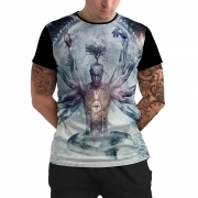 Stompy Camiseta Manga Curta Psicodelica Modelo 14