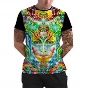 Stompy Camiseta Manga Curta Psicodelica Modelo 16