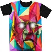 Stompy Camiseta Manga Curta Psicodelica Modelo 27
