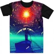 Stompy Camiseta Manga Curta Psicodelica Modelo 30