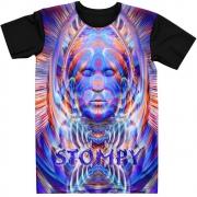 Stompy Camiseta Manga Curta Psicodelica Modelo 40