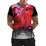 Stompy Camiseta Manga Curta Psicodelica Modelo 42
