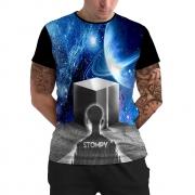 Stompy Camiseta Manga Curta Psicodelica Modelo 47