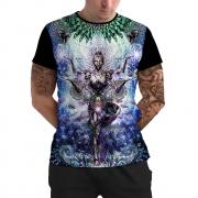 Stompy Camiseta Manga Curta Psicodelica Modelo 49
