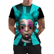 Stompy Camiseta Manga Curta Psicodelica Modelo 51