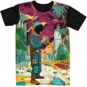 Stompy Camiseta Manga Curta Psicodelica Modelo 53