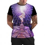 Stompy Camiseta Manga Curta Psicodelica Modelo 80