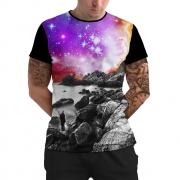 Stompy Camiseta Manga Curta Psicodelica Modelo 84