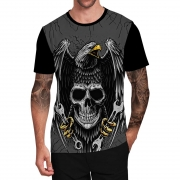 Stompy Camiseta Tattoo Tatuagem Caveira Skull 04