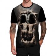 Stompy Camiseta Tattoo Tatuagem Caveira Skull 101