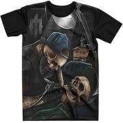 Stompy Camiseta Tattoo Tatuagem Caveira Skull 119