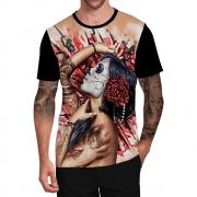 Stompy Camiseta Tattoo Tatuagem Caveira Skull 125