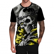 Stompy Camiseta Tattoo Tatuagem Caveira Skull 130