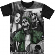 Stompy Camiseta Tattoo Tatuagem Caveira Skull 134