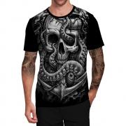 Stompy Camiseta Tattoo Tatuagem Caveira Skull 15