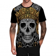 Stompy Camiseta Tattoo Tatuagem Caveira Skull 163