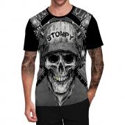 Stompy Camiseta Tattoo Tatuagem Caveira Skull 20