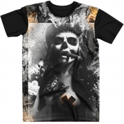 Stompy Camiseta Tattoo Tatuagem Caveira Skull 46