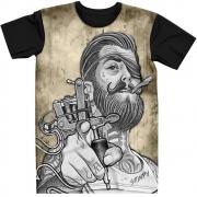 Stompy Camiseta Tattoo Tatuagem Caveira Skull 66