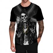 Stompy Camiseta Tattoo Tatuagem Caveira Skull 93