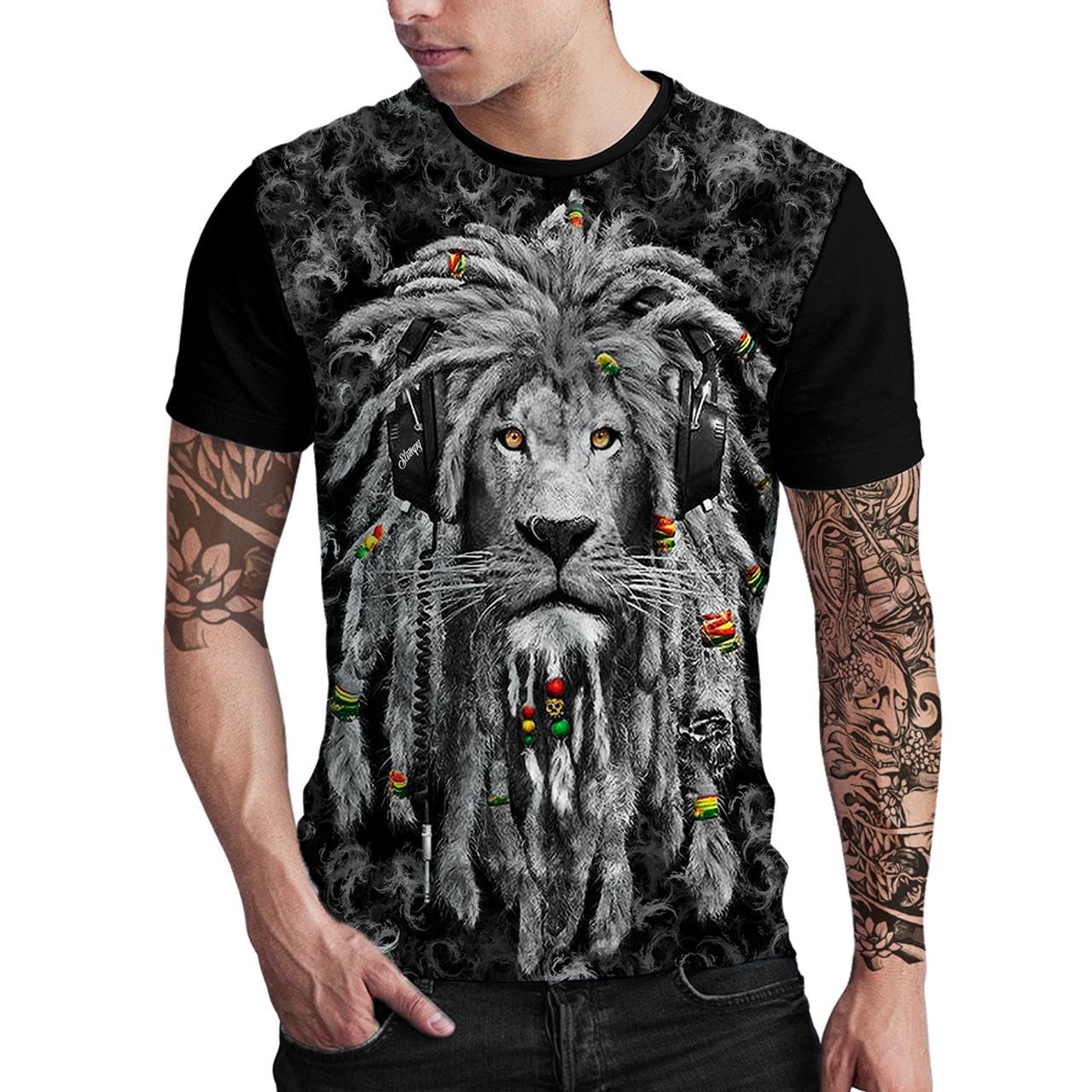 Stompy Camiseta Estampada Masculina Modelo 106