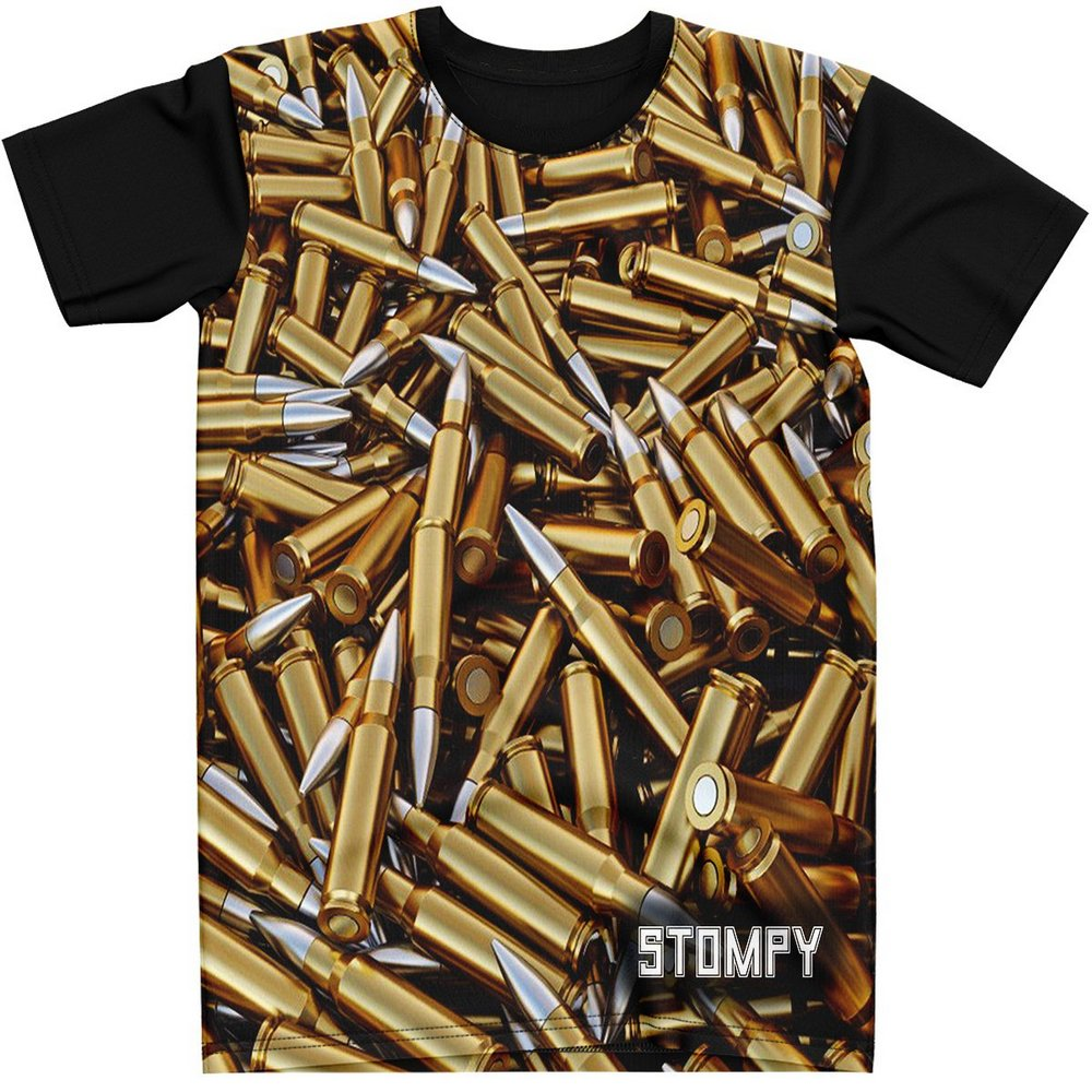 Stompy Camiseta Estampada Masculina Modelo 109