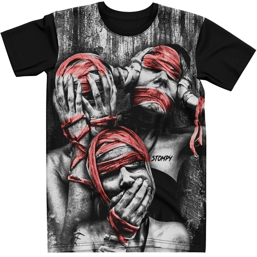 Stompy Camiseta Estampada Masculina Modelo 113