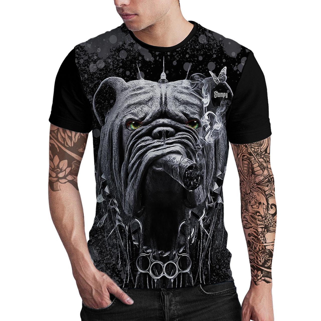 Stompy Camiseta Estampada Masculina Modelo 132
