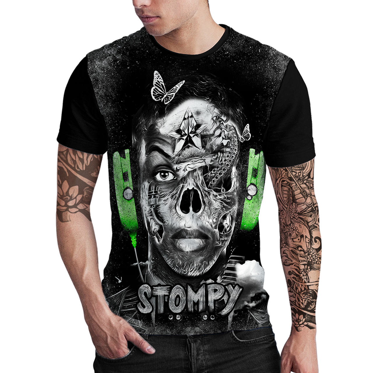 Stompy Camiseta Estampada Masculina Modelo 135