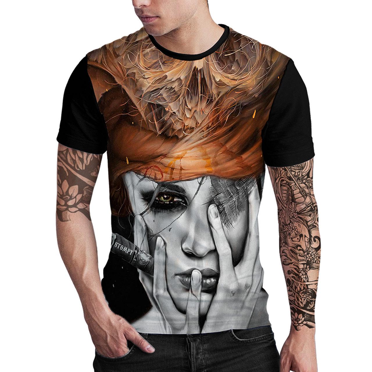 Stompy Camiseta Estampada Masculina Modelo 139