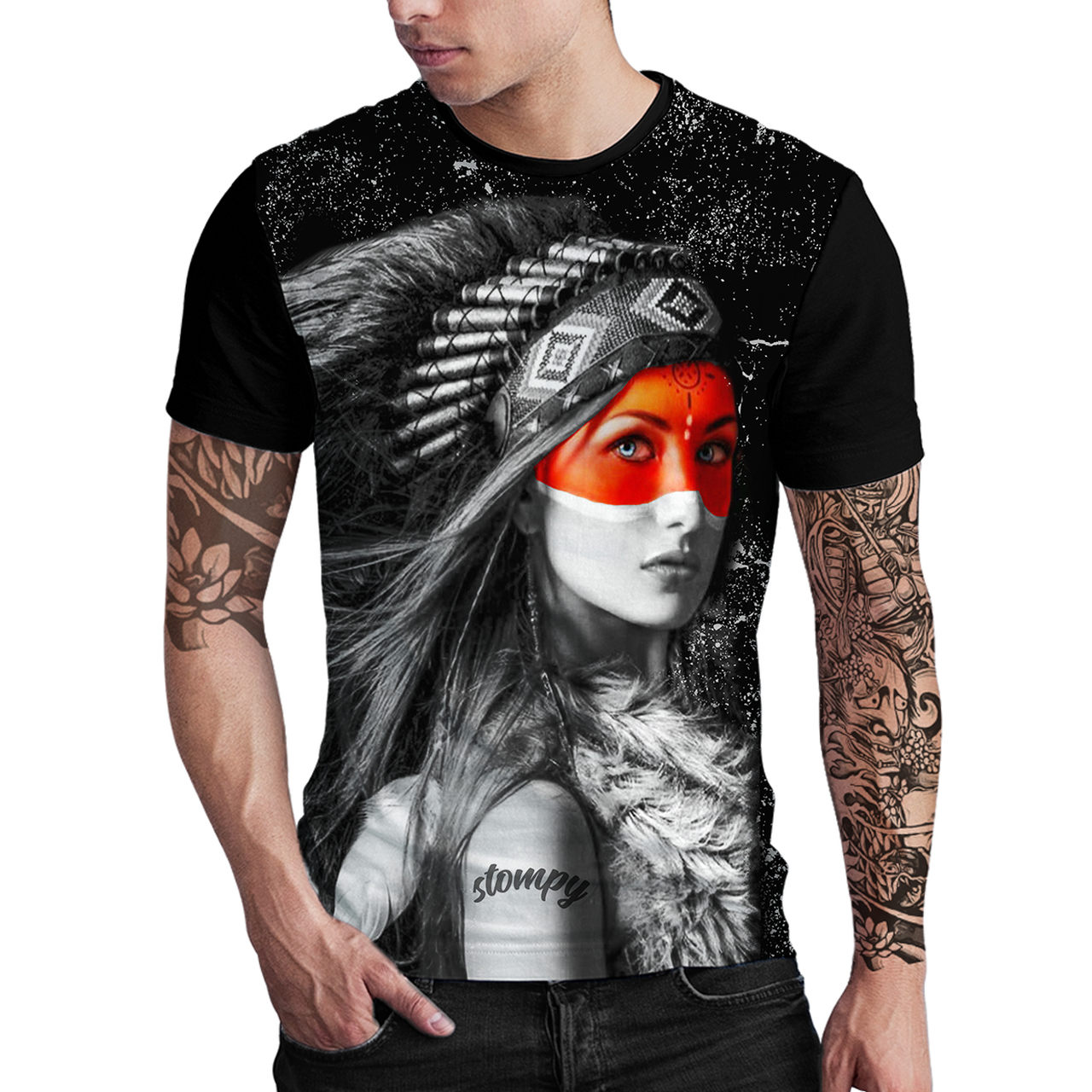 Stompy Camiseta Estampada Masculina Modelo 144