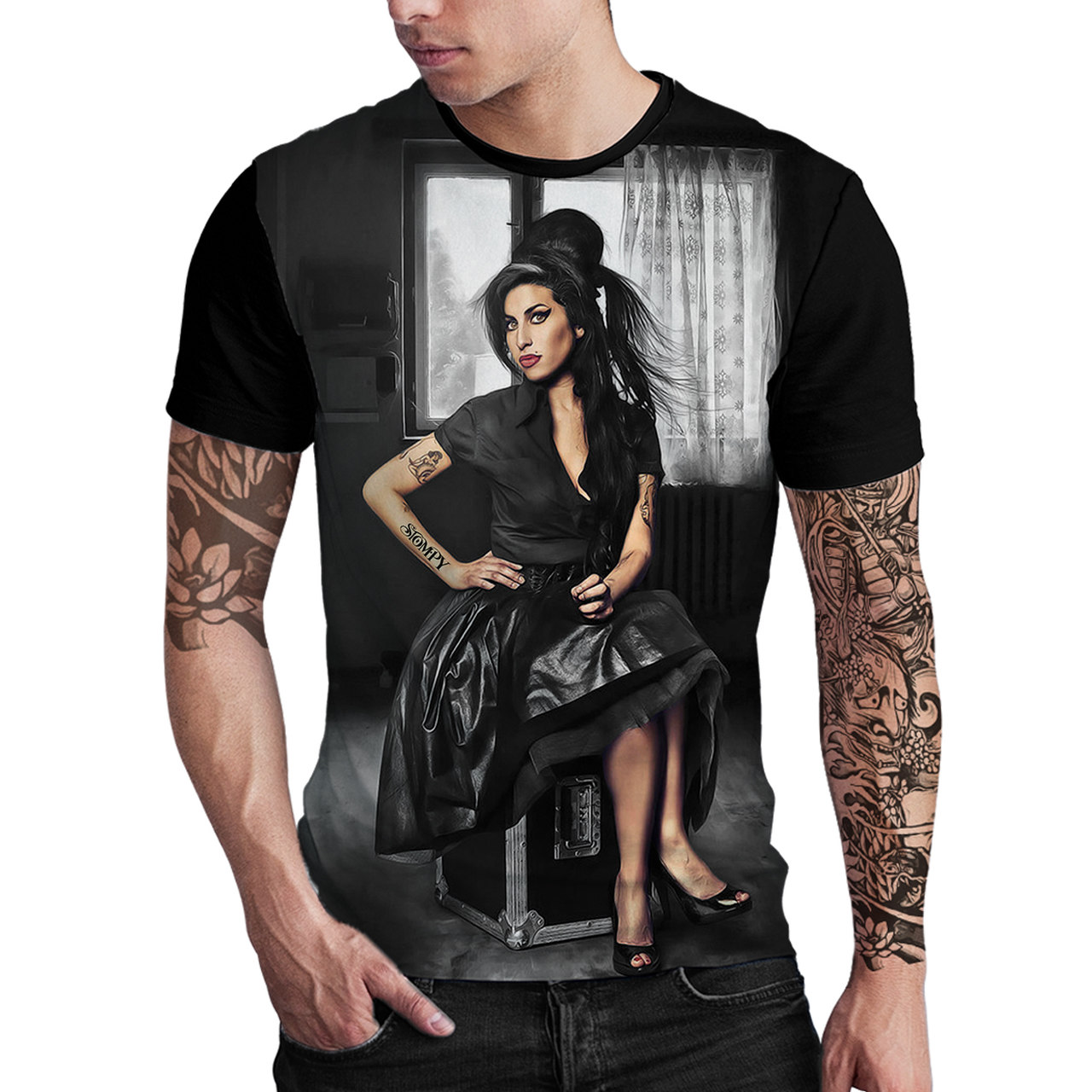Stompy Camiseta Estampada Masculina Modelo 18