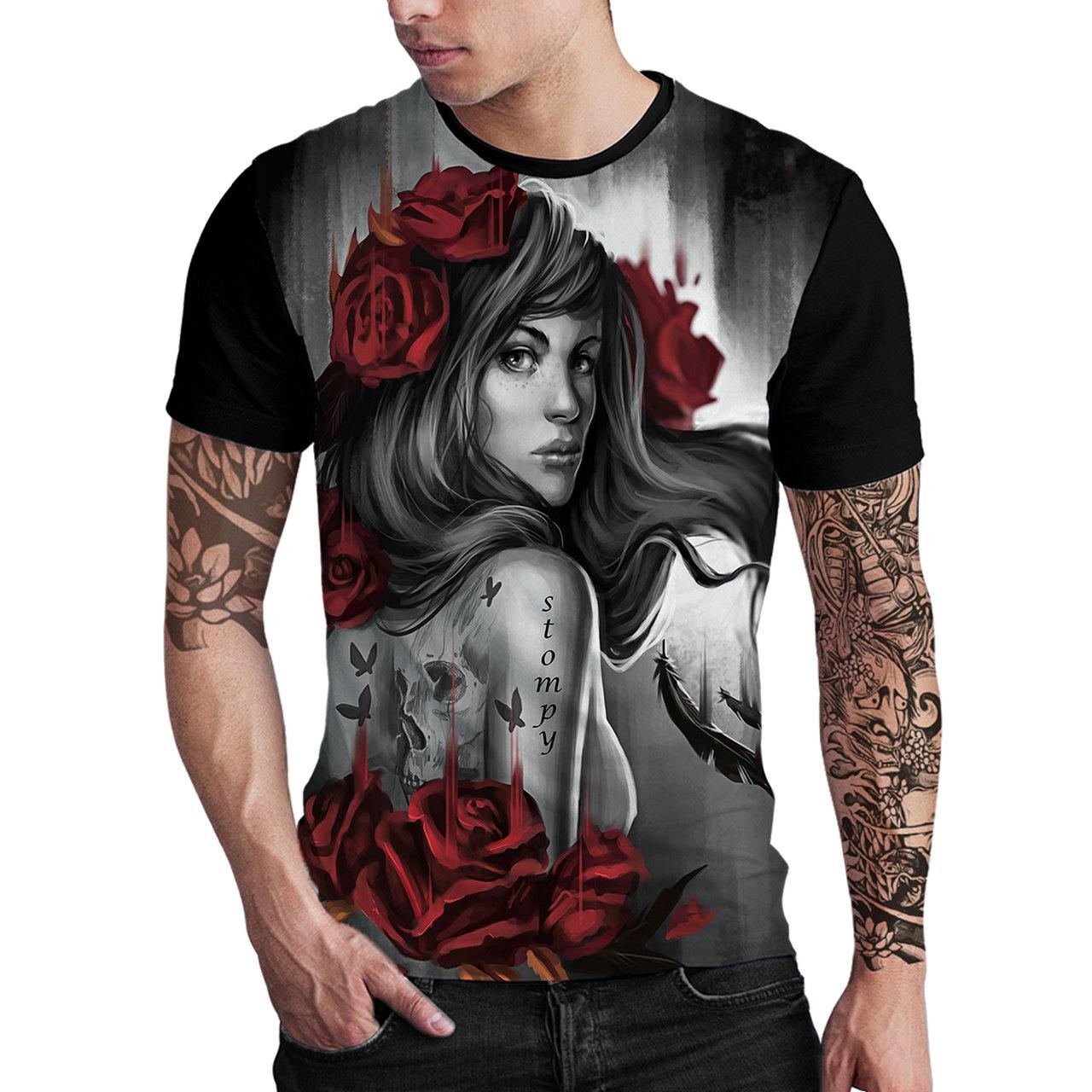 Stompy Camiseta Estampada Masculina Modelo 19