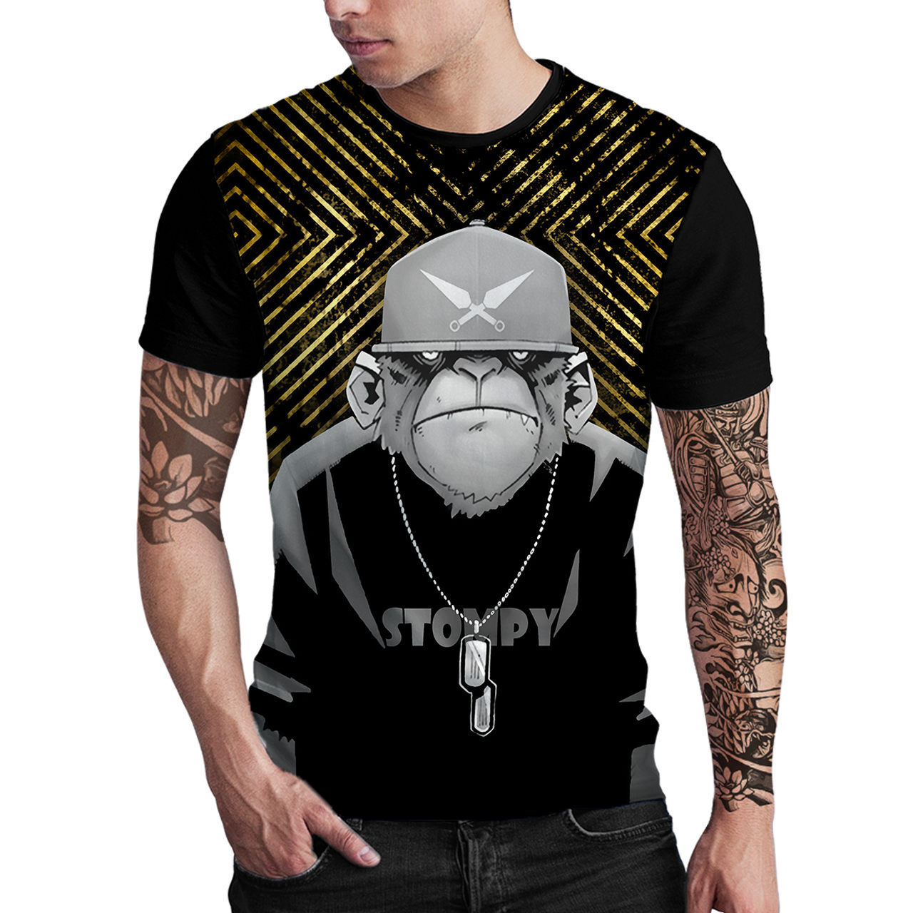 Stompy Camiseta Estampada Masculina Modelo 26