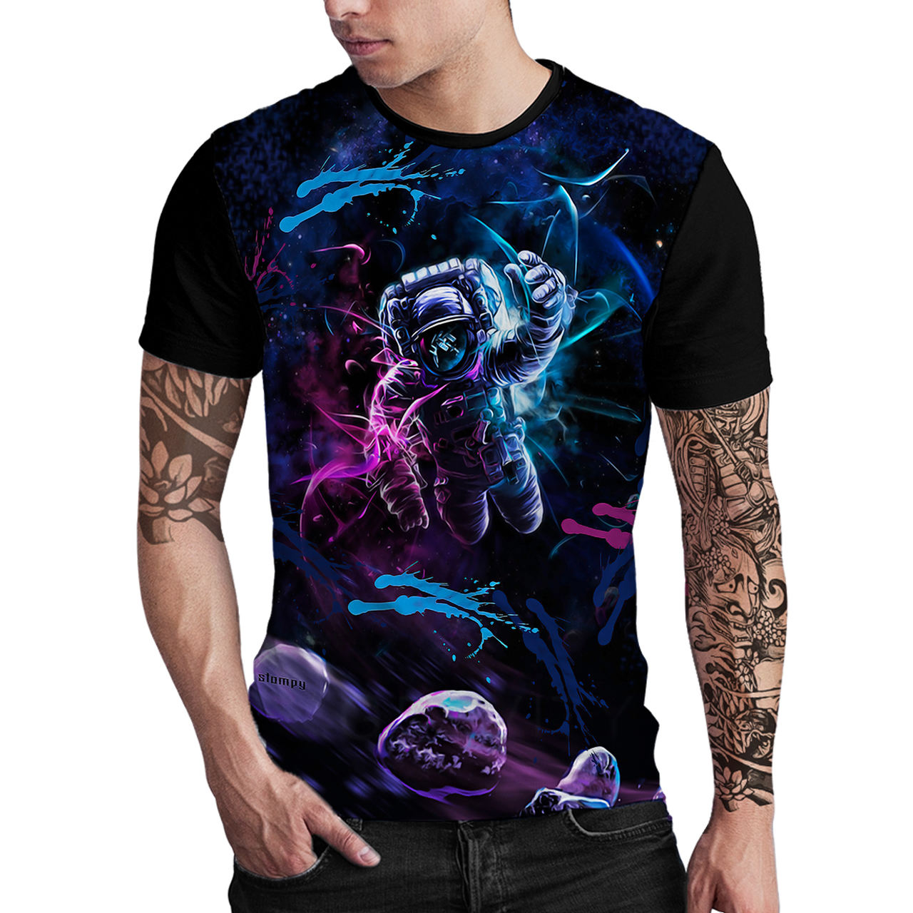 Stompy Camiseta Estampada Masculina Modelo 30