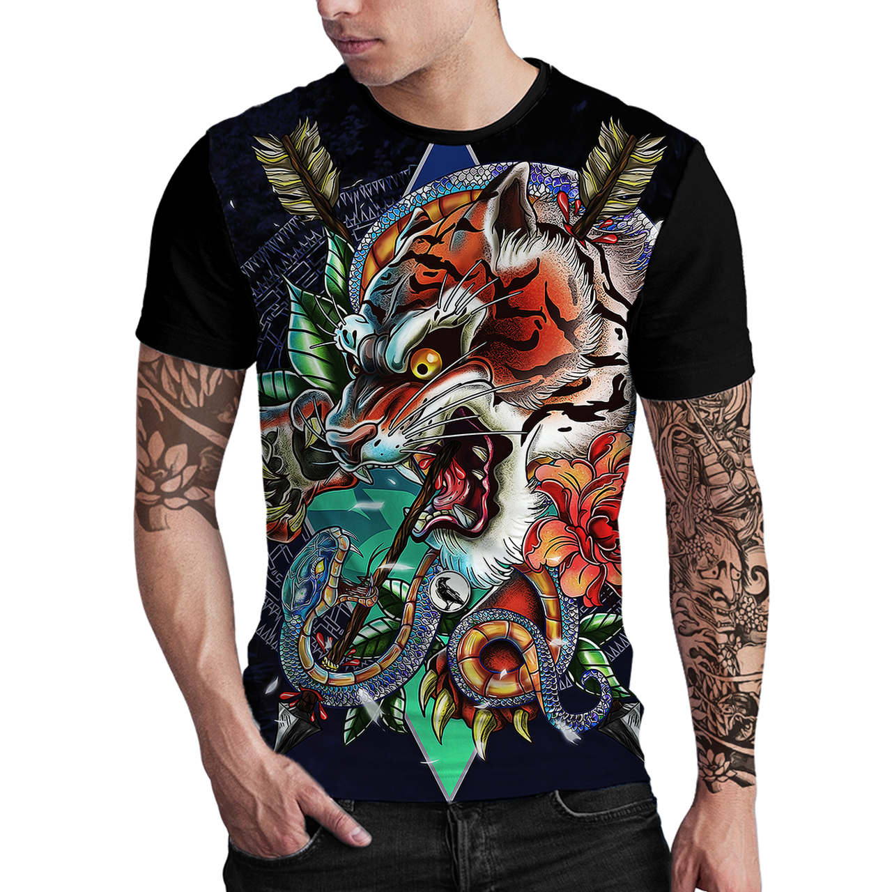 Stompy Camiseta Estampada Masculina Modelo 33